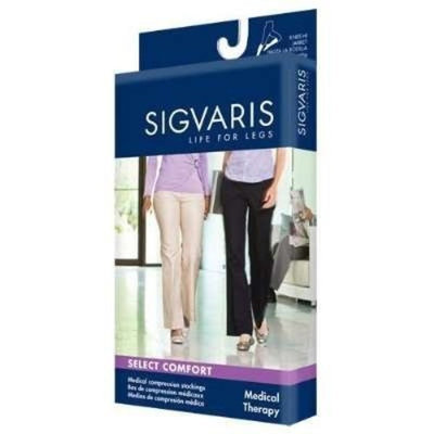 Sigvaris 860 Select Comfort Series 30-40 mmHg Women's Closed Toe Thigh High Sock Size: L2, Color: Natural 33