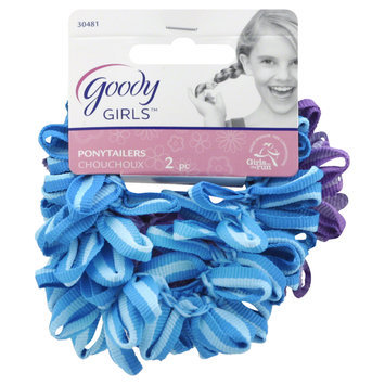 Goody Products Inc. Girls Ouchless Loop Grosgrain Ponytailer, 2 CT