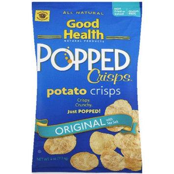 Good Health Natural Products Popped Crisps Original with Sea Salt Potato Crisps, 4 oz, (Pack of 12)