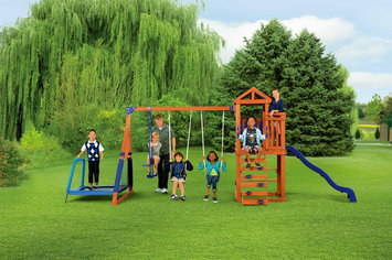 Sportspower Limited Woodland Jump 'N Swing with Picnic Table
