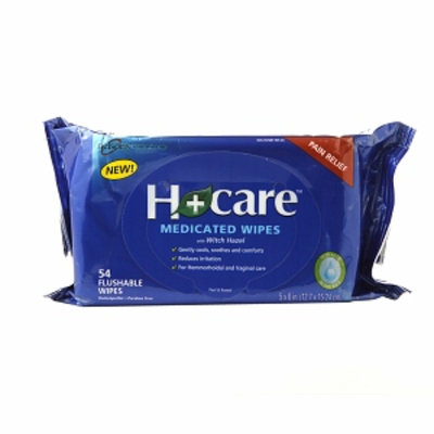 Nelsons H+Care Medicated Wipes, 54 ea