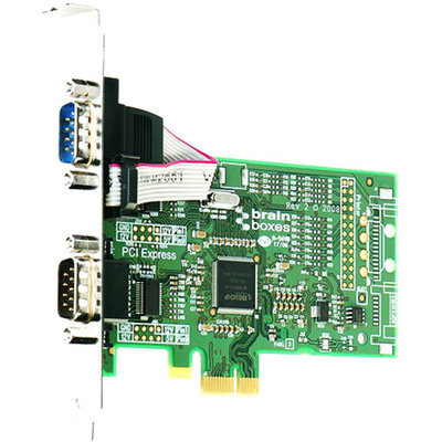 Brainboxes PX-257-001 2-Port PCI Express Serial Adapter