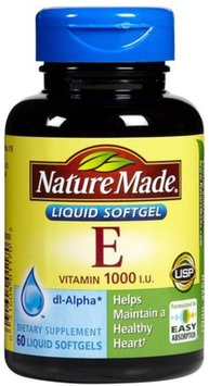 Nature Made Vitamin E 1 000 Iu Softgels
