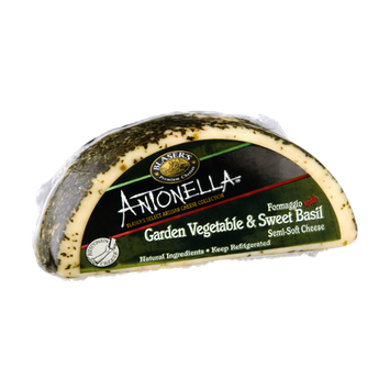 Blaser's Antonella Formaggio with Garden Vegetable & Sweet Basil Semi-Soft Cheese