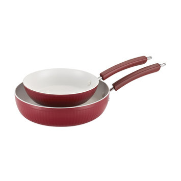 Paula Deen Savannah Twin Pack: 9-Inch and 11.25-Inch Open Skillets, Red