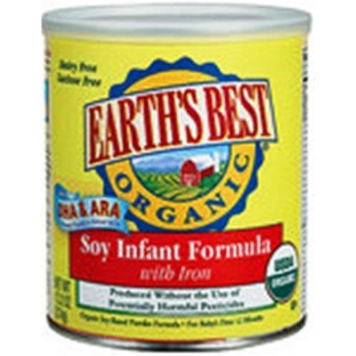 Earth's Best Organic Soy Infant Formula with Iron, 13.2 Ounce Canister