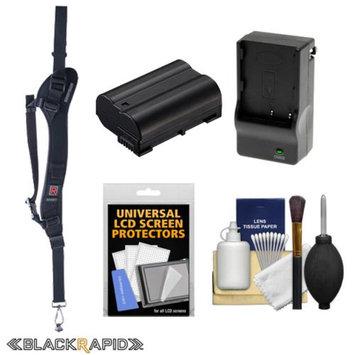 BlackRapid RS-Sport-2L Extreme Sport Slim Camera Strap (Left Handed) with EN-EL15 Battery & Charger + Kit for Nikon Digital SLR D610, D7000, D7100, D800, D800E