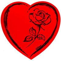 Elmer's Red Wrap Romantic Heart Valentine Heart Box Chocolates, 18 oz