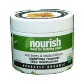 Nourish Organic Acai Berry and Seabuckthorn Nighttime Renewal Face Moistur 2 oz Cream