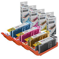LD Compatible Canon Set of 4 PGI-250XL & CLI-251XL High Yield Inkjet Cartridges: 1 Pigment Black 6432B001, 1 Cyan 6449B001, 1 Magenta 6450B001 and 1 Yellow 6451B001