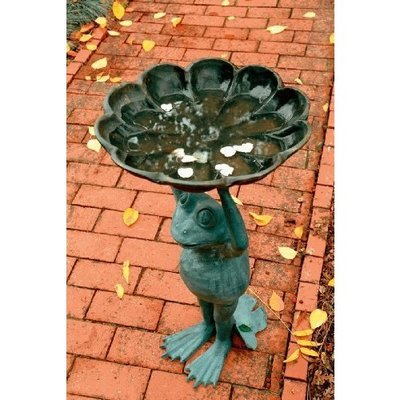 SPI Home 30409 Happy Frog Birdbath