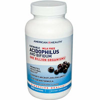 American Health Acidophilus and Bifidus Chewable Blueberry 100 Wafers
