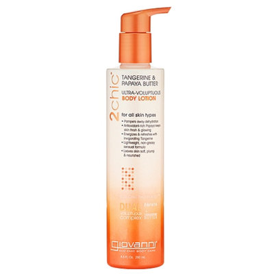 Giovanni 2chic Tangerine & Papaya Butter Ultra-Voluptuous Body Lotion, 8.5 fl oz