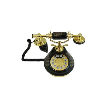 Antique Replica French Porcelain Phone Black