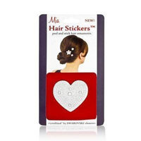 Mia Hair Stickers - Large Model No. 04802 - Silver Heart