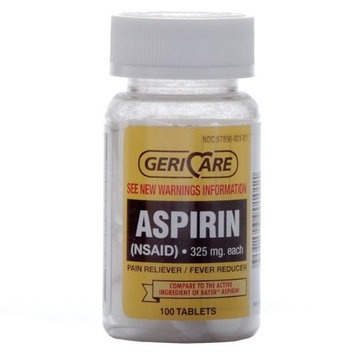 Geri Care Pharma Bottled Aspirin 100/bottle