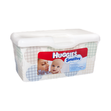Huggies Sensitive Thick 'n' Clean Baby Wipes - 64 CT