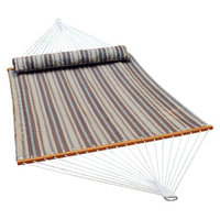 Algoma Net Company Quick Dry 13' Patio Hammock with Pillow - Natural Stripe