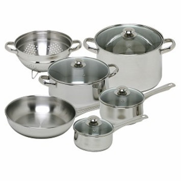 Magefesa Vesta Stainless Steel Cookware Set, 10 piece, 1 ea