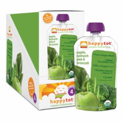 Happy Tots Organic Superfood, Broccoli, Spinach, Pea & Apple, 8 ea