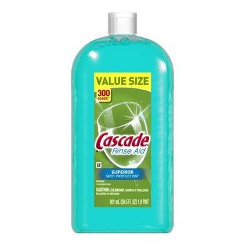 Cascade Rinse Aid, Dishwasher Rinse Agent, Original Scent 30.5 Fl Oz