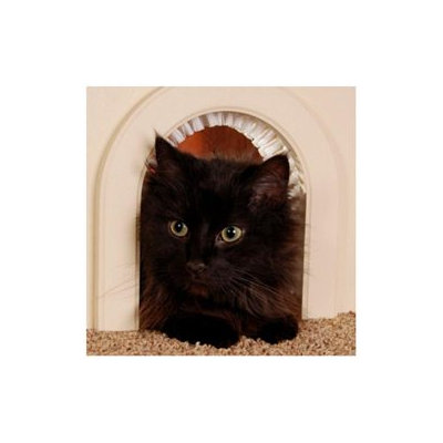 Cathole Pet Door for Cats with Removeable Brush - CHWM