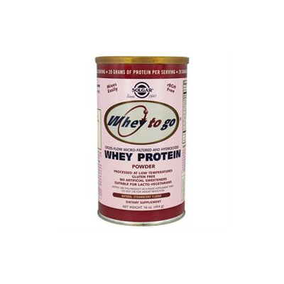 Solgar Whey To Go Protein Powder - Natural Strawberry