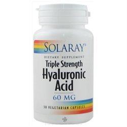 Solaray Triple Strength Hyaluronic Acid - 60 mg - 30 Vegetarian Capsules