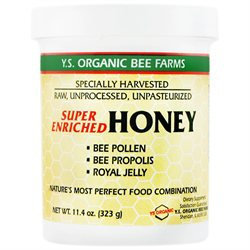 YS Royal Jelly/Honey Bee Super Enriched Honey - 11.4 Ounces Gel - Bee Products