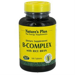 Nature's Plus B-Complex with Rice Bran - 180 Tablets