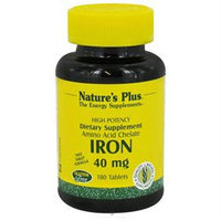 Nature's Plus Iron 40 MG - 180 Tablets - Iron