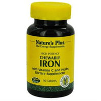 Nature's Plus Chewable Iron with Vitamin C and Herbs - 90 Tablets