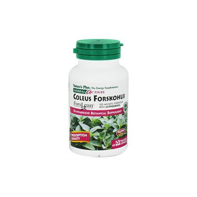 Nature's Plus Herbal Actives Coleus Forskohlii - 125 mg - 60 Vegetarian Capsules