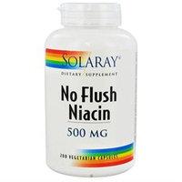 Solaray No Flush Niacin - 500 mg - 200 Vegetarian Capsules