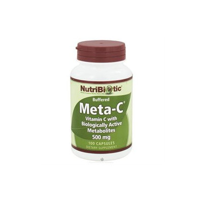 Nutribiotic - Meta-C Buffered Vitamin C with Biologically Active Metabolites 500 mg. - 100 Capsules