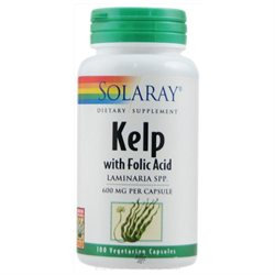 Solaray Kelp with Folic Acid - 100 Vegetarian Capsules