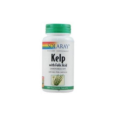 Solaray Kelp with Folic Acid - 100 Vegetarian Capsules