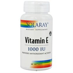 Solaray Vitamin E - 1000 IU - 60 Softgels