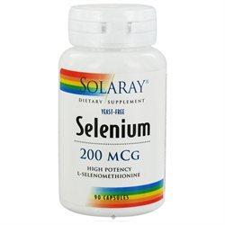Solaray Selenium - 200 mcg - 90 Capsules
