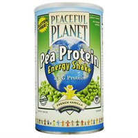 VegLife - Peaceful Planet Pea Protein Energy Shake Unsweetened French Vanilla - 18.9 oz.