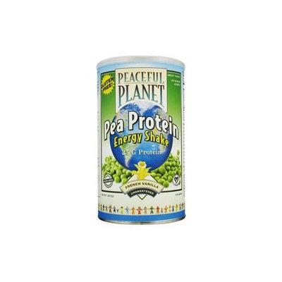 VegLife - Peaceful Planet Pea Protein Energy Shake Unsweetened French Vanilla - 18.9 oz.