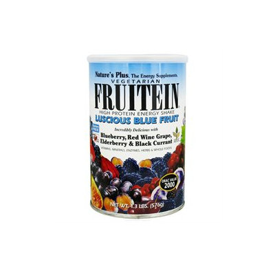 Nature's Plus Fruitein Shake Vegetarian Luscious Blue Fruit - 1.35 lbs