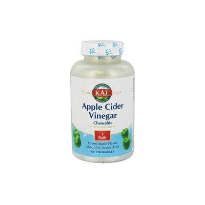 Kal Apple Cider Vinegar - 500 mg - 60 Chewable Tablets