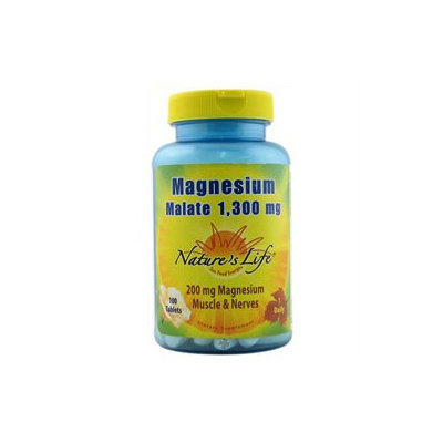 Nature's Life Magnesium Malate - 1300 mg - 100 Tablets