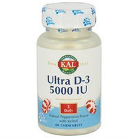 Kal Ultra D-3 Unflavored - 5000 IU - 60 Chewables