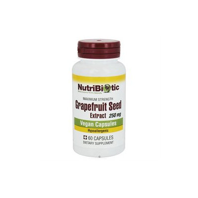 Nutribiotic - Maximum Strength Grapefruit Seed Extract - 60 Capsules