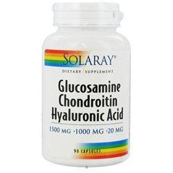 Solaray Glucosamine Chondroitin Hyaluronic Acid - 90 Capsules