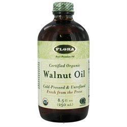 Flora Walnut Oil Certified Organic - 8.5 fl oz