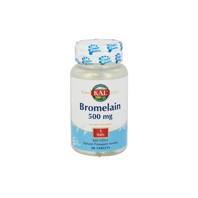 KAL Bromelain 500 MG - 60 Tablets - Enzymes
