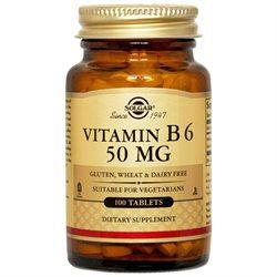 Solgar - Vitamin B6 50 mg. - 100 Tablets